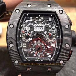 $enCountryForm.capitalKeyWord NZ - Brand 011 Big Date Black Carbon Fiber Case Skeleton Dial 7750 Chronograph Multifunction Automatic Mechanical Mens Watch Rubber Strap Watches