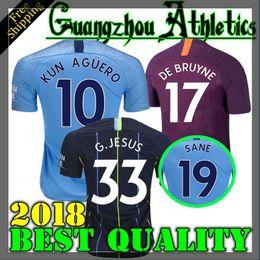 29b4cac34 Bruyne Jersey Canada - 2018 2019 G.JESUS Home city Soccer jersey 18 19 DZEKO
