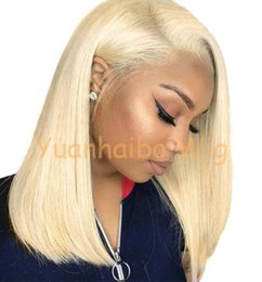 long lace wig cuts UK - Short Bob Cut Wig Full Lace Wigs Malaysian Virgin Human Hair 613 Blonde Hair Wig Lace Front Long for Black Woman Free Shipping