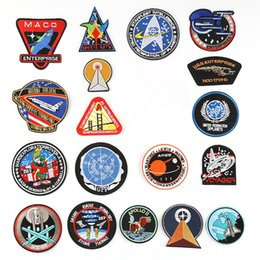 T Shirts Style Australia - (46 Styles) Space Astronaut Embroidery Patches for T-shirt Iron on Stripes Clothes Rocket Stickers Spaceship Aircraft Badges @N