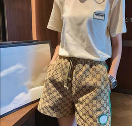 Wholesale wide leg trousers resale online – 2020 woman shorts high quality designer loose web celebrity elastic waist retro belted trousers luxury women s fashion casual trousers