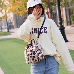 Styles Backpacks Australia - Small Bags For Women Fashion Leopard Plush Mini Shoulder bags Cute Korean Style Women Luxury Backpack Designer bolsas