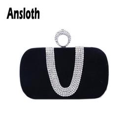 $enCountryForm.capitalKeyWord NZ - Ansloth Women Fashionable Evening Clutch Bag 2019 Diamond Handbag Ladies Wedding Party Purse Female Rhinestones Wallet HPS548