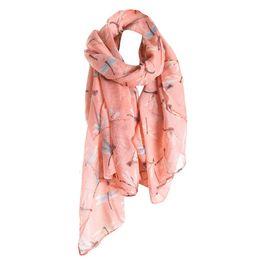 Girls Cotton Poncho Wholesale UK - Fashion Cotton Linen Long Scarf Women Fly Printed Spring Summer Wrap Shawl Scarves Ladies Hijab Ponchos