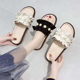 $enCountryForm.capitalKeyWord Australia - Shoes Luxury Slides Flat Slippers String Bead Platform Socofy Med Shose Women Summer Clogs Woman Designer 2019 Soft Beach Basic