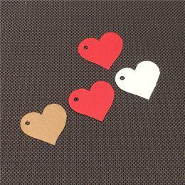 $enCountryForm.capitalKeyWord NZ - Heart Shape Mini Size Kraft Paper Hang Tags Clothing Label Price Tags Cute Love Handmade Thank You Red Blank DIY 1000Pcs Lot