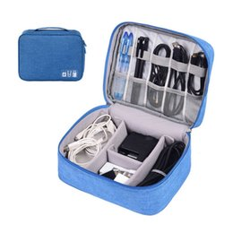 Mobile Power Cell Phone Australia - Travel Digital Accessories Organizer Data Bag USB SD Card Data Line Headset Mobile Power Portable Storage Package Cell Phone Bag VT0032