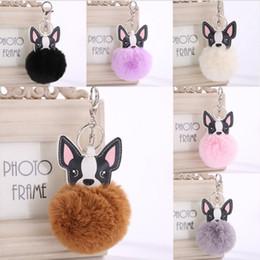 Decor Ornament Australia - Free DHL Cute Animal Keychain Dog Key Ring Handbag Bag Charm Car Puppy Cell Phone Decor Ornament Wallet Purse Keychains Key Holder D475Q Y