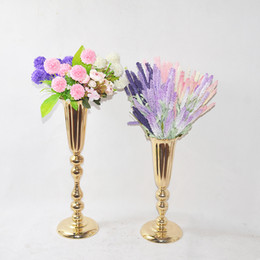 $enCountryForm.capitalKeyWord UK - New style elegant Tall sliver New Arrival ! Gold Metal Vase, Gold Flower Vase, Royal Gold Trumpet Vase For Decoration decor134