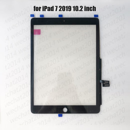 50PCS Touch Screen Glass Panel with Digitizer for iPad 7 2019 7th A2197 A2200 A2198 free DHL on Sale