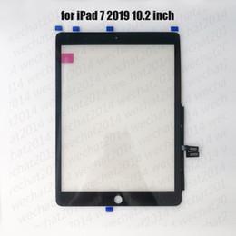 Venta al por mayor de Panel de cristal de pantalla táctil de 50pcs con digitalizador para iPad 7 2019 7.o A2197 A2200 A2198 DHL gratis