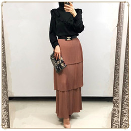$enCountryForm.capitalKeyWord Australia - 2019 HOT maxi muslim skirt pleated for women dubai arab turkey islamic ladies clothing long skirt cotton plus size wholesale