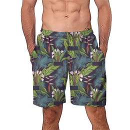 China Men Summer Print Hawaii Short Pants Men Loose Casual Beach Shorts Drawstring Casual Hip Hop Anime Shorts Pant Clothes cheap hawaii clothes suppliers
