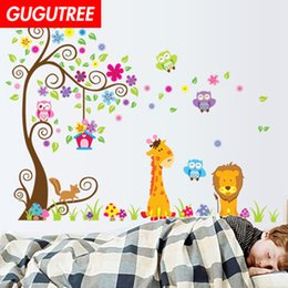 $enCountryForm.capitalKeyWord NZ - Decorate Home trees tiger lion cartoon wars art wall sticker decoration Decals mural painting Removable Decor Wallpaper G-2248