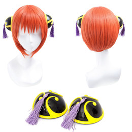 Wholesale gintama cosplay for sale - Group buy Gintama Kagura Cosplay Wigs cm inches Short Orange Wig