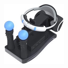 Ps4 Cradle Australia - PSVR Storage Stand Holder For PS4 VR PS VR Headset 2th Generation + Charging Station Display Cradle For PS Move Showcase