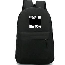 Backpack flag print online shopping - Black flag backpack Family man daypack Loose nut schoolbag Rock band rucksack Casual school bag Outdoor day pack