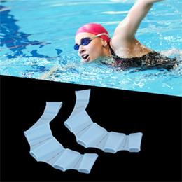 Swimming Gear Kids Australia - 1pc Silicone Swim Gear Fins Hand Web Flippers Training Diving Gloves Webbed Gloves for Women Men Kids Swimming Tool