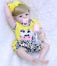 "$enCountryForm.capitalKeyWord Australia - 22"" 55cm full silicone reborn babies dolls bebe alive stylish blonde hair girl fashion doll best gift kids bonecas brinquedos"