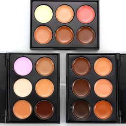 $enCountryForm.capitalKeyWord Australia - Private Label Full Cover 6Color Concealer Palette Facial Face Contour Making Up Foundation Cosmetic Makeup Scream Palette With Quality Brush
