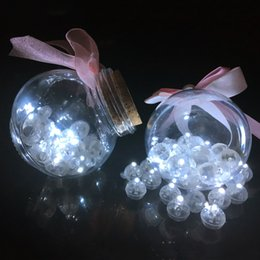 bottle lights UK - 100 Pcs White Led Balloon Lights Mini Round Ball Lamps For Wishing Bottle Lantern Christmas Wedding Party Home Decoration J190706