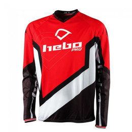 Quick Dry Shirts For Men Australia - Wholesale Motocross Jersey Downhil Mountain Bike DH Shirt MX Motorcycle Clothing Ropa FIT For HEBO PRO Men Quick Dry MTB F