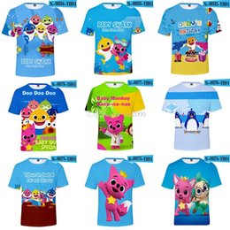 49071241aaa2 3d baby t shirt online shopping - kids D Baby Shark T shirts style Baby  Shark