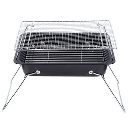 outdoor kitchens grills 2019 - Folding Portable Barbecue Stove Home Kitchen Outdoor Camping Patio BBQ Grill cheap outdoor kitchens grills