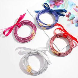 Gel bracelets online shopping - Multi layer Flash filled Bracelet Glitter Jelly Bracelets Glitter Silica Gel Round Bangle Christmas Halloween Party Bangles