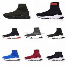 Great Shoe Australia - 2019 Designer Sock Shoes Oreo Black White New Gypsophila Men Women Running Shoes Cheap Boots Top feeling Sneakers Great Quality Size 36-45