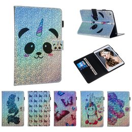 Ipad aIr cartoon cover online shopping - Cartoon Printed Gillter Tablet Case for iPad Mini Mini Screen Cover PU Leather Flip Cover Case for iPad Mini Smart Cover