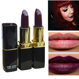 $enCountryForm.capitalKeyWord Australia - 1 PCS Gothic Fashion Lipstick Long Lasting Dark Purple Chocolate Color Lip Makeup Lipsticks