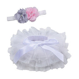 Wholesale Baby Girls Tutu Skirt Bow Gauze Skirts With Headband PP Shorts Skirt Kids Casual Girls Clothes Baby Princess Skirts 0-3T 07