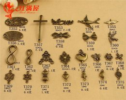 $enCountryForm.capitalKeyWord Australia - 500grams Antique bronze bird connector sideway cross flower butterfly charms vintage metal pendants for bracelet earring jewelry making diy