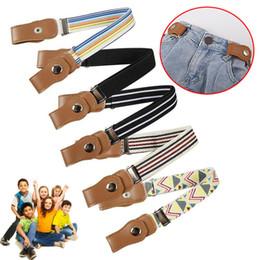 $enCountryForm.capitalKeyWord NZ - Child Buckle-Free Elastic Belt 2019 No Buckle Stretch Belt for Kids Toddlers Adjustable Boys and Girl`s Belts for Jeans Pants