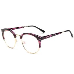 f975ce3f99 2019 Hot Fashion Cat Eye Half Frame Metal Anti-Radiation Goggles Plain  Glass Spectacles 10 colors