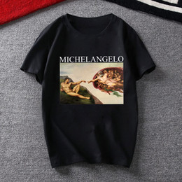 $enCountryForm.capitalKeyWord Australia - Fashion Black Tshirts Michelangelo Angel Printed Womens T Shirt Kawaii Vegan Funny Pulp Fiction Tees Femme Tops