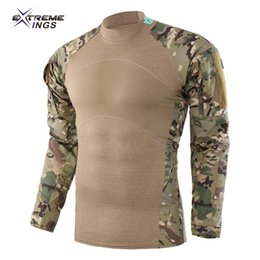 Wholesale Outdoor Army tactical T shirt frog costumes Camouflage uniforms Cycling suits Summer uniforms Workwear hiking shirt