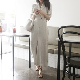 $enCountryForm.capitalKeyWord Australia - Rompers Female Plus Size M-2xl Elegant Loose Cotton Linen Summer Women Jumpsuit Trousers Wide Leg Jumpsuits Long Pants Overalls T190823