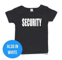 $enCountryForm.capitalKeyWord Australia - Security Baby T-Shirt or Onesie Jumpsuit 100% cotton gift funny presentFunny free shipping Unisex Casual Tshirt top