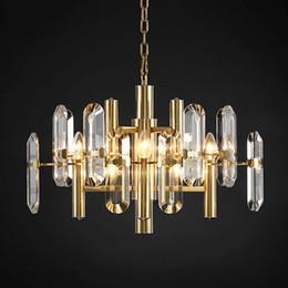 Shiny aluminum online shopping - Modern LED crystal chandelier lighting living room crystal shiny crystal chandelier lighting chandelier ceiling lamp