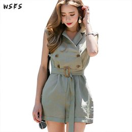Discount elegant shorts rompers - Summer Jumpsuits Suit Bodysuit Short Mini Hot Pants Rompers Womens Jumpsuit Green 2019 Elegant Bodycon Sexy Office Lady