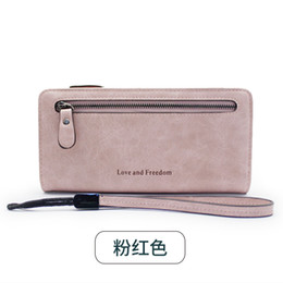 Ladys Pink Handbags Australia - Explosive Korean version of highgrade multifunctional handbag Longstyle ladys wallet with good antique quality good handle and large capacit