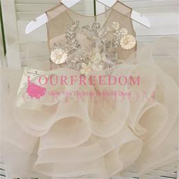 Yellow Flower For Belts Australia - New Arrival Flower Girl Dress 2019 First Communion Dresses For Girls Short Sleeve Belt With Flowers Customized
