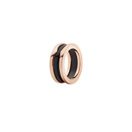 $enCountryForm.capitalKeyWord UK - Bestries High Grade Luxury Bugali B.ZERO1 Anniversary Gift Black Ceramics 14K Rose Gold Plated Ring Free Shipping Jewelry With Logo