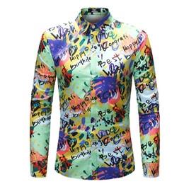 $enCountryForm.capitalKeyWord NZ - 2019 Fahion Casual Shirt Embroidered  arrival Man Shirt Pattern Design Long Sleeve Flowers Print Slim Fit Shirts Men