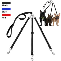 Two dog leash online shopping - Three Way Dog Leash Triple Pet Leads No Tangle With Adjustable Detachable Dog Coupler for One Two Three Samll Medium Large Dogs