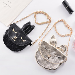 kids mini messenger purses bags 2019 - Baby Girls Rabbit ears Messenger Bag Cartoon Cute Kids Mini PU bunny Shoulder bag Boutique Coin Purse Handbag C5992 disc