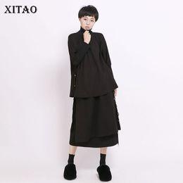 T Shirt Woman Korea NZ - [XITAO] Women Autumn 2019 New Arrival Korea Fashion Turtleneck Full Sleeve Loose T-shirt Female Solid Color Casual Tee CXB1341