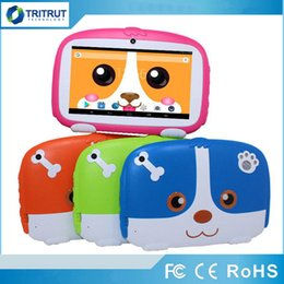 "A33 Quad Core Tablet Australia - Kids Brand Tablet PC 7"" 7 inch Quad Core children Cute cartoon dog tablet Android 4.4 Allwinner A33 google player 512 RAM 8GB ROM MQ100"